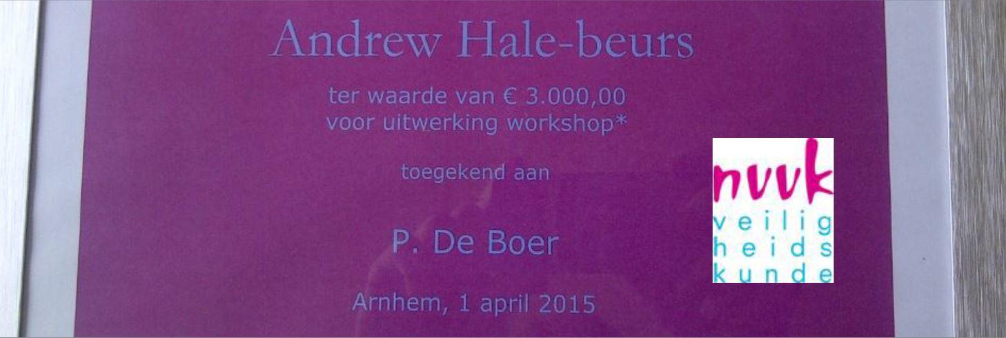 Pieter de Boer ontving van NVVK de Andrew Hale-beurs 2015