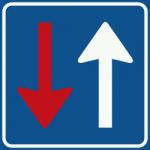 Wegversmalling-blauw-vierkant